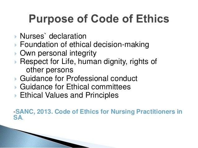 A study of the ethics of nursing