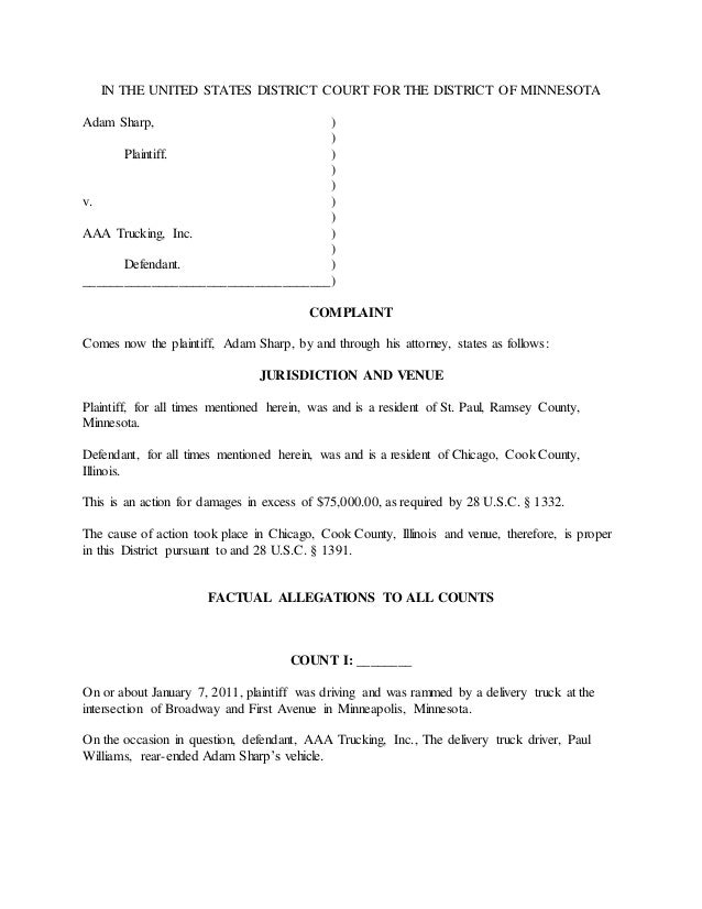 Letter Of Court Claim Template