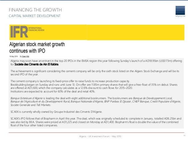Algeria-UK Investment Forum - Tell Group - May 2016 v4