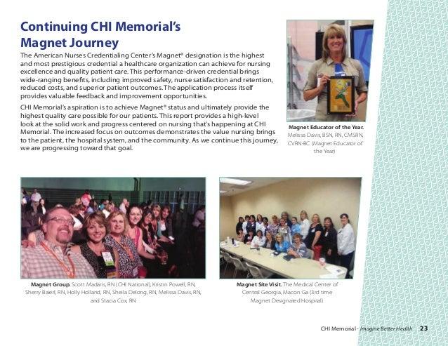 CHI Memorial FY2014 Nursing Annual Report
