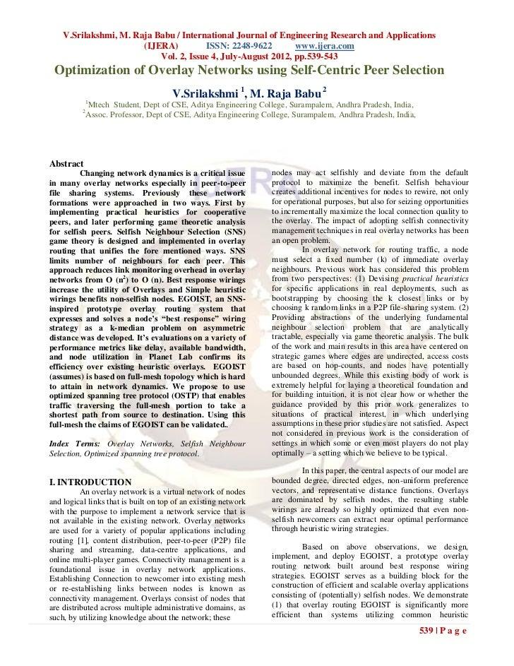 V.Srilakshmi, M. Raja Babu / International Journal of Engineering Research and Applications                       (IJERA) ...
