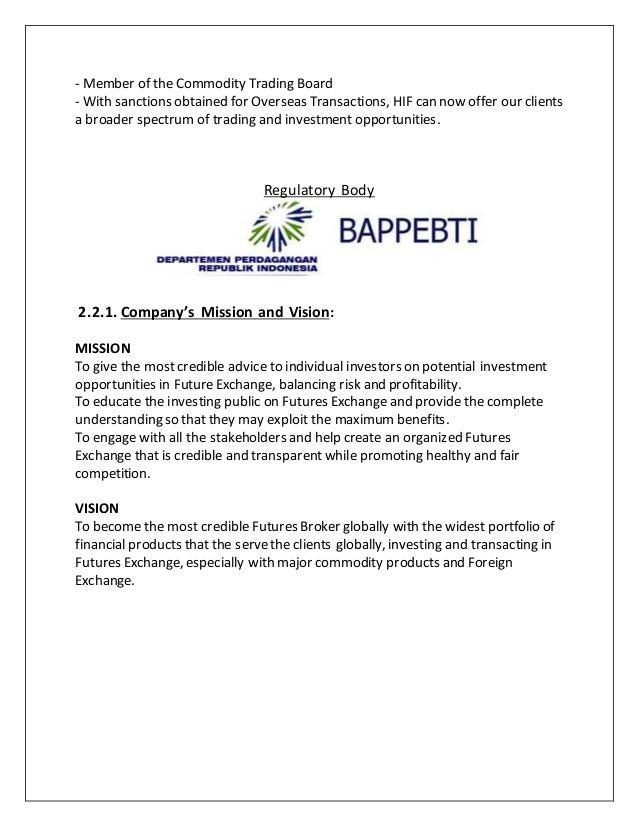 commodity trading internship