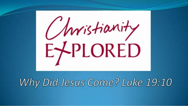 "Christianity Explored CE: ""Why did Jesus come?"" Questions:  If God is a good God why does he allow   so much suffering?..."