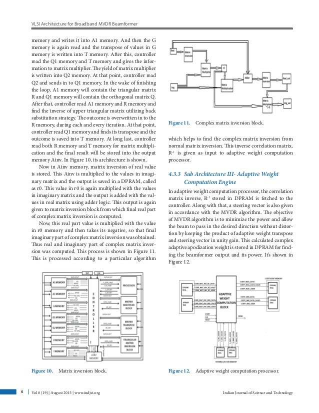 VLSI Architecture for Broadband MVDR Beamformer