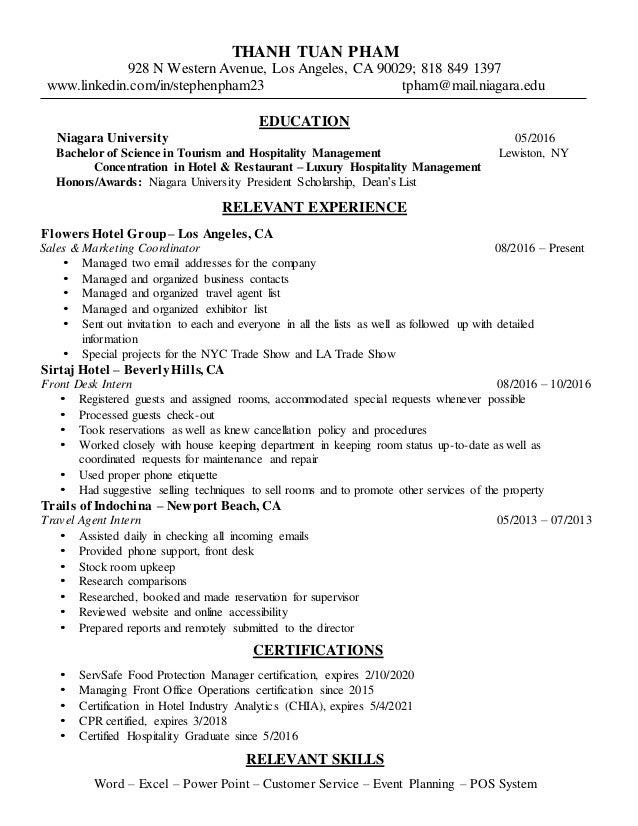 Steve Phams Resume