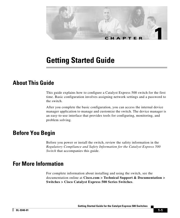 C H A P T E R                           1              Getting Started GuideAbout This Guide              This guide expla...
