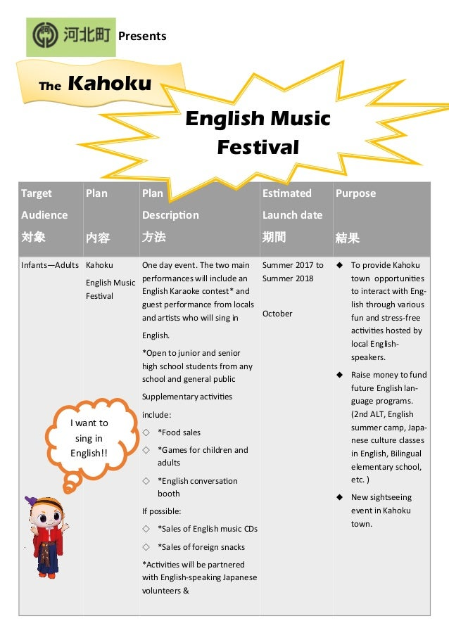 kahoku english music festival resume