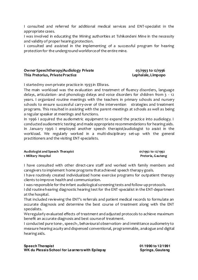 cover letter for audiology externship
