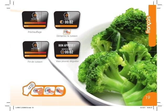 Démarrez la cuisson Fin de cuisson Préchauffage Vous pouvez déguster LIVRET_COOKEO.indd 19 12/12/11 16:49:21