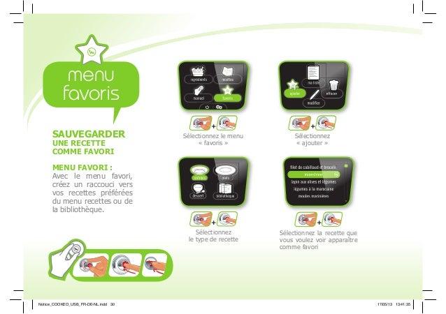 + + + + Sélectionnez le menu « favoris » Sélectionnez « ajouter » Sélectionnez le type de recette Sélectionnez la recette ...