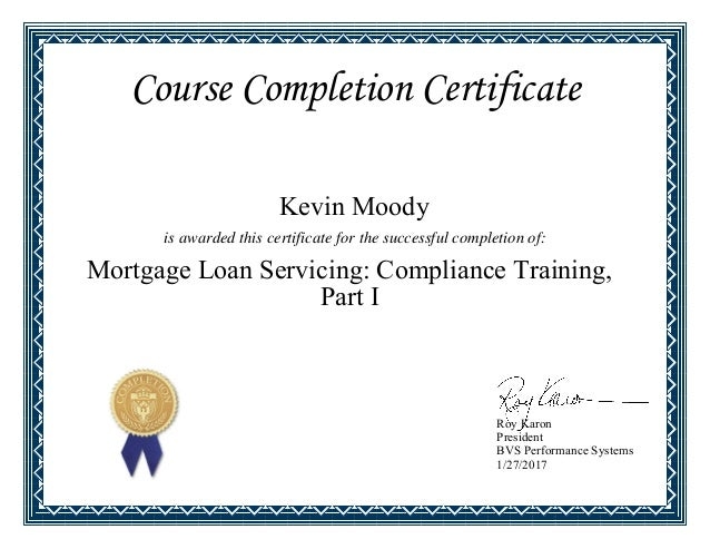Mortgage Loan Servicing - Compliance Training - Part 1