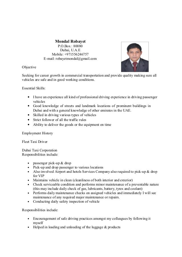 resume driver