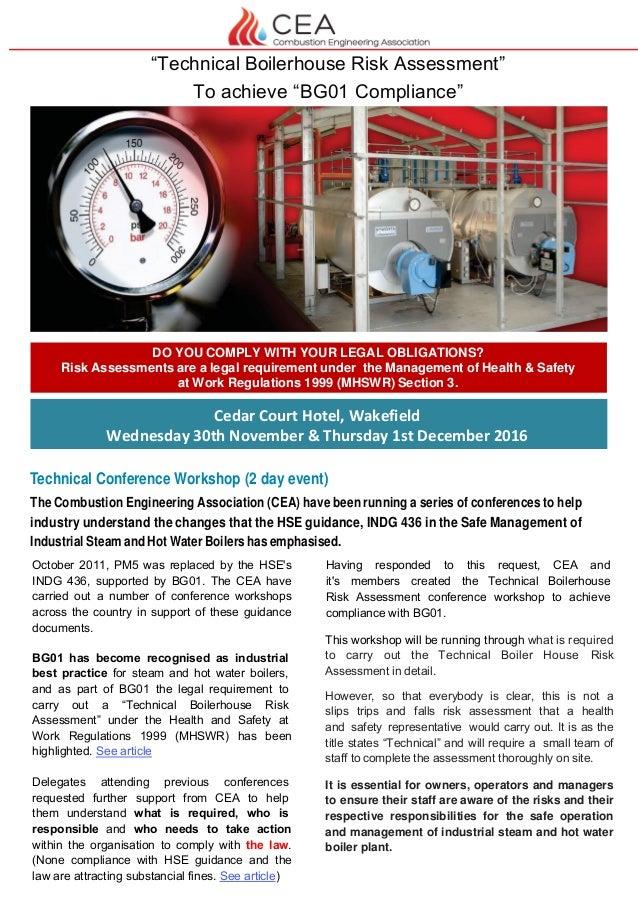 CEA Technical Boilerhouse Risk Assessment Conference - Cedar Court Ho…