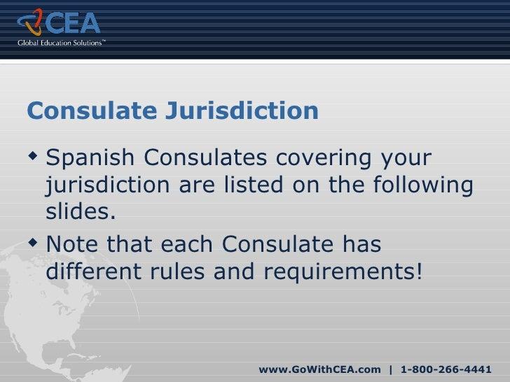 Cea spanish visa tutorial for study abroad for Consul tutorial