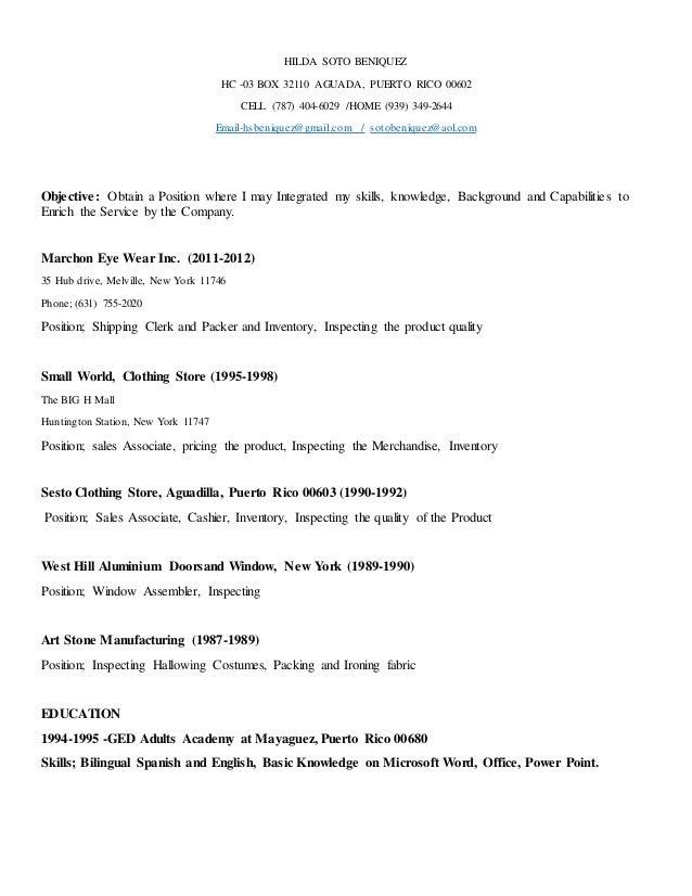 resume bilingual 2016