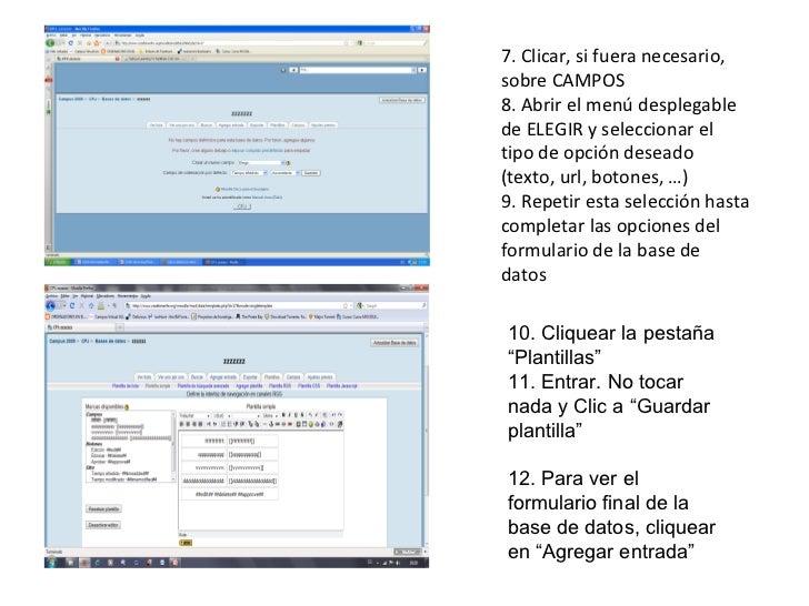 7. Clicar, si fuera necesario, sobre CAMPOS 8. Abrir el menú desplegable de ELEGIR y seleccionar el tipo de opción deseado...