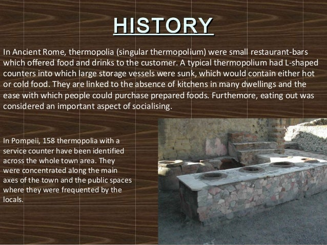 Restaurant presentation for Ancient roman cuisine history