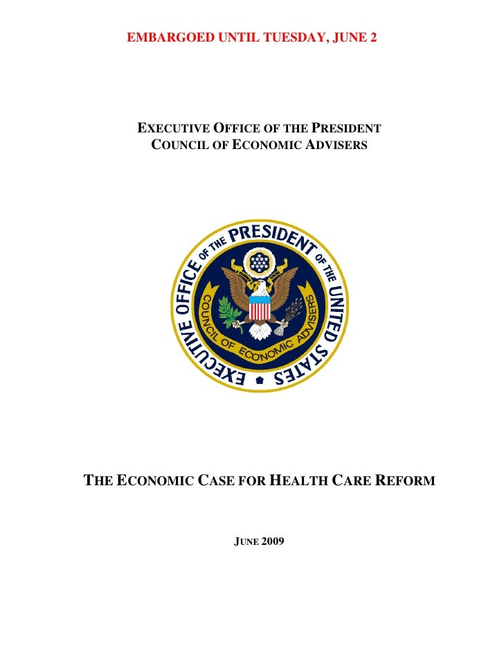 EMBARGOED UNTIL TUESDAY, JUNE 2           EXECUTIVE OFFICE OF THE PRESIDENT        COUNCIL OF ECONOMIC ADVISERS     THE EC...