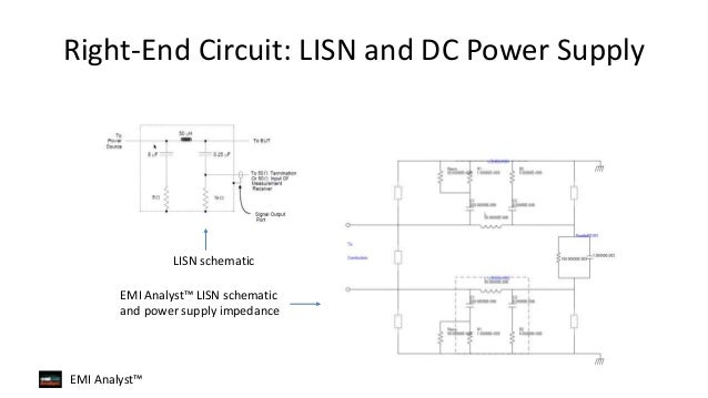 CE yst Overview | Conducted Emissions ysis Overview Lisn Schematic on oscilloscope schematic, shielded cable schematic, spectrum analyzer schematic, line noise cable schematic, electronic load schematic,