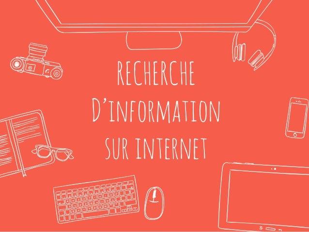 RECHERCHE D'information surinternet