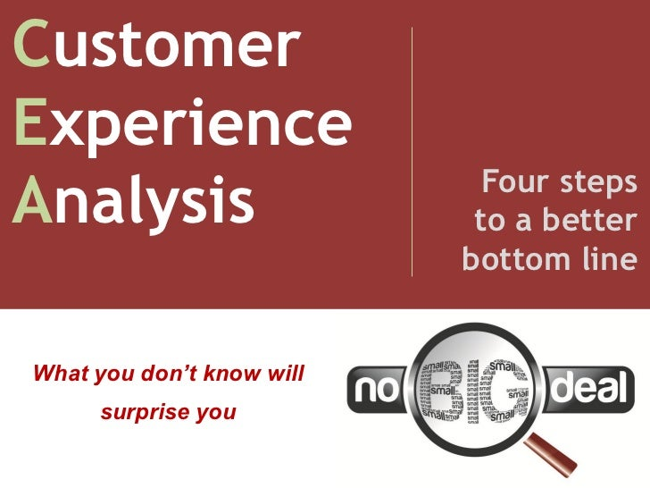 CustomerExperience                             Four stepsAnalysis                    to a better                          ...