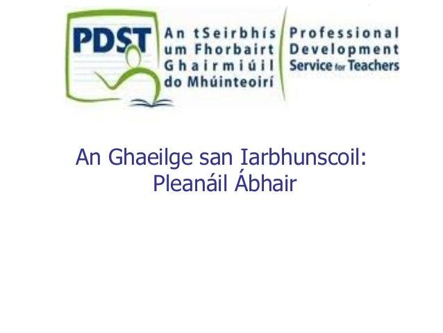 An Ghaeilge san Iarbhunscoil: Pleanáil Ábhair