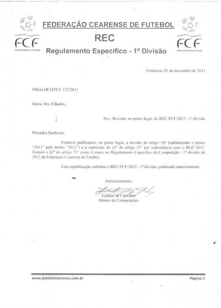 Regulamento Campeonato Cearense 2012