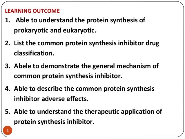 list of protein synthesis disorders