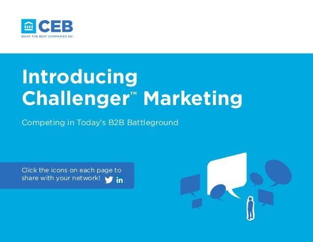 Introducing Challenger Marketing