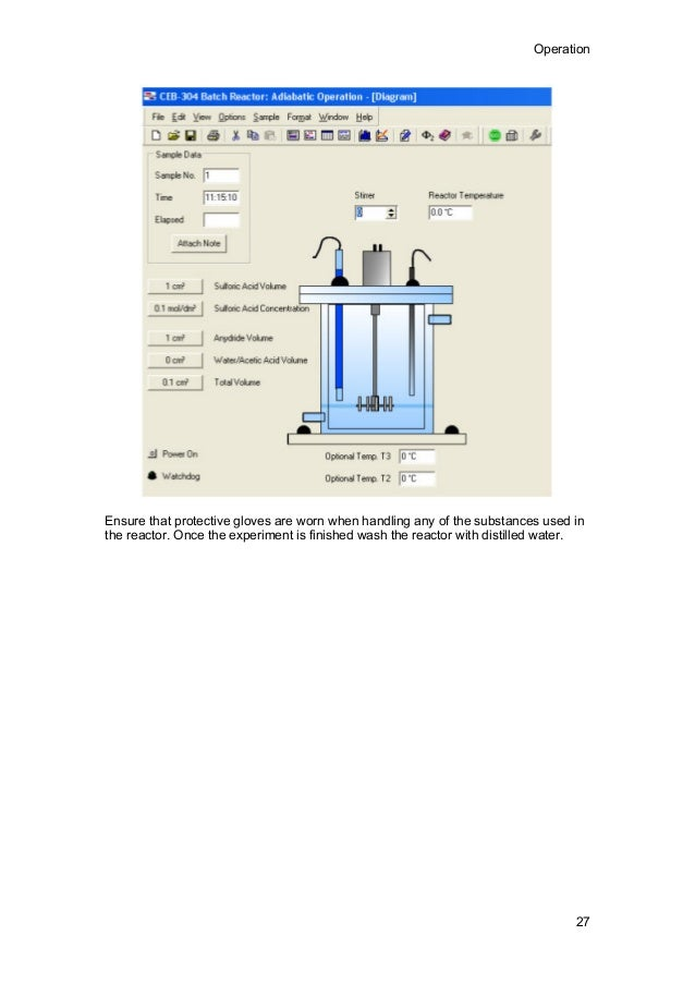 transparent batch reactor instruction manual rh slideshare net Continuous Stirred Tank Reactor Continuous Stirred Tank Reactor