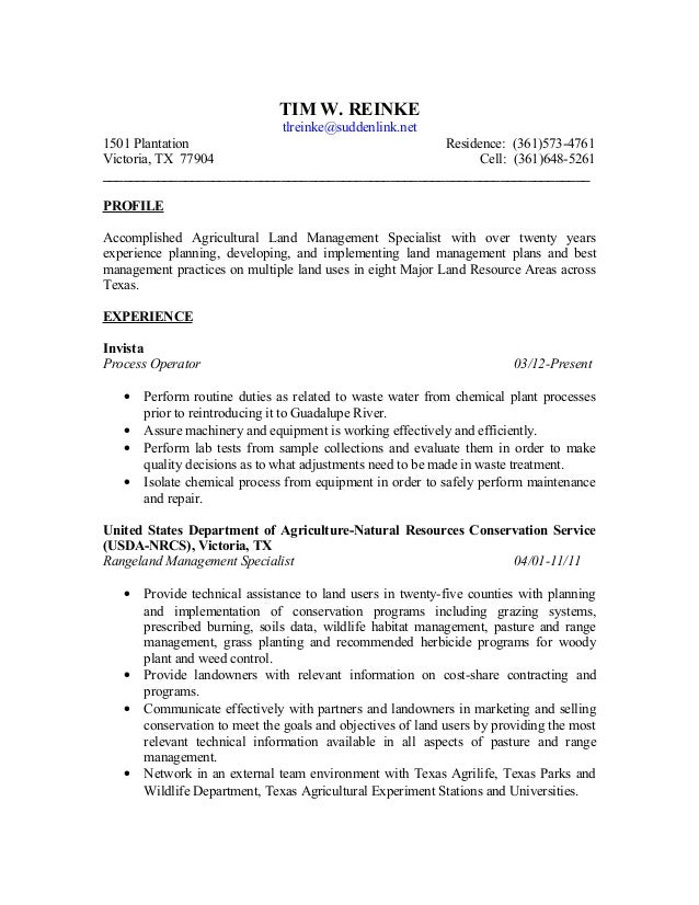 Beautiful Conservation Land Management Resume Gallery - Best Resume ...