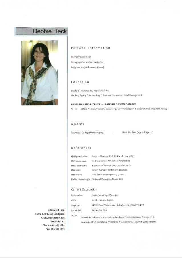 Heck Debbie CV
