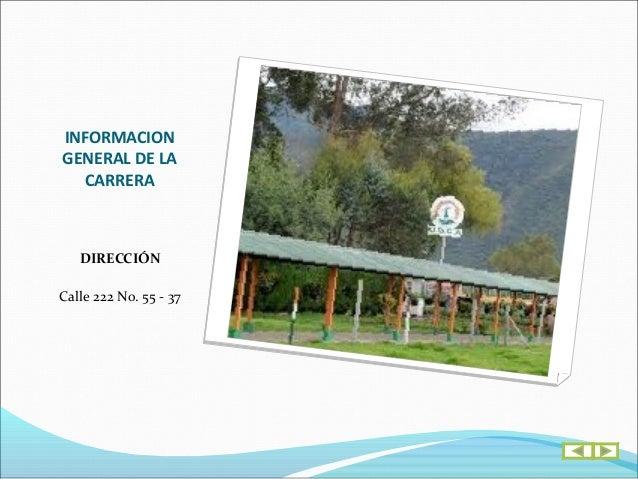 INFORMACIONGENERAL DE LA  CARRERA     Emailingeo@udca.edu.co