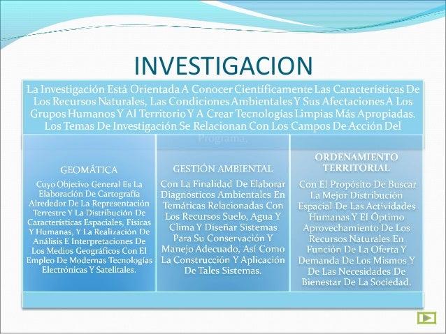 INFORMACIONGENERAL DE LA  CARRERA     TITULOIngeniero Geógrafo y     Ambiental