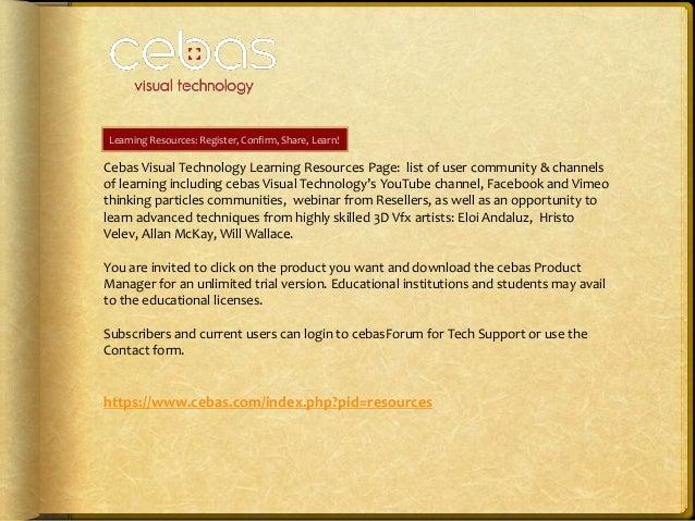 cebas Visual Technology: VFX and Render software