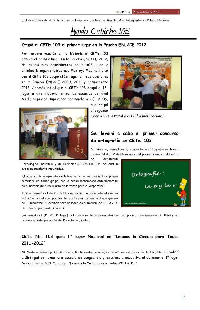 [CBTIS 103] 29 de octubre de 2012El 3 de octubre de 2012 se realizó un Homenaje Luctuoso al Maestro Alonso Lujambio en Pal...
