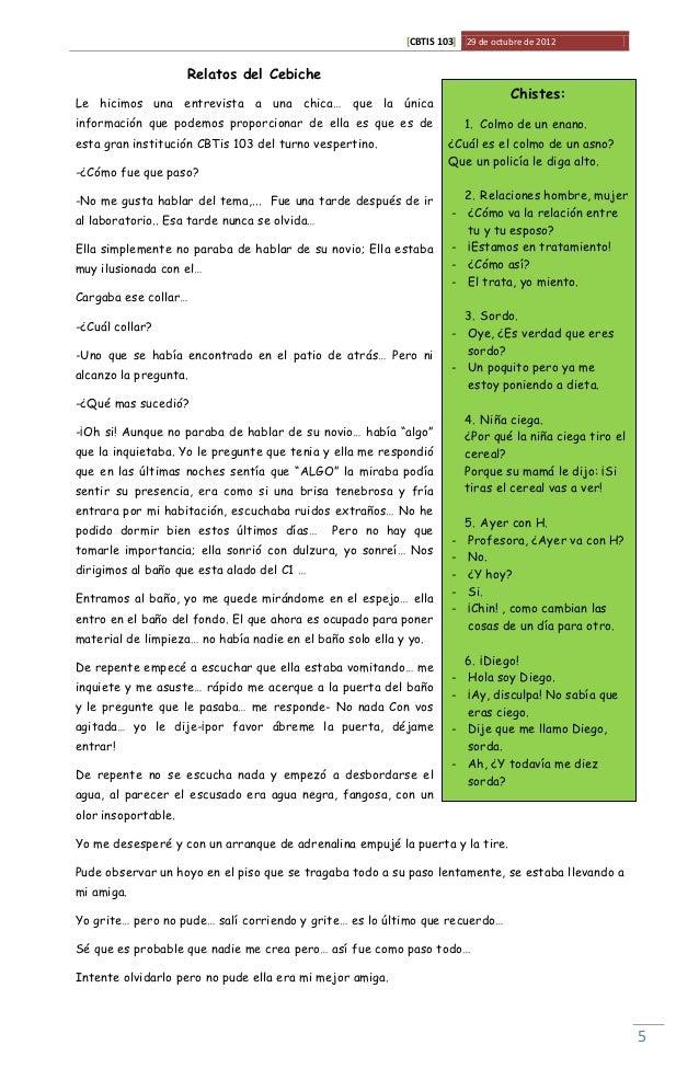 [CBTIS 103] 29 de octubre de 2012                     Relatos del Cebiche                                                 ...