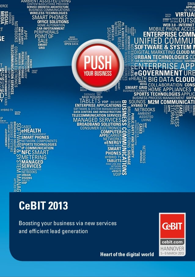 CeBIT 2013Boosting your business via new servicesand efficient lead generation                                Heart of the...