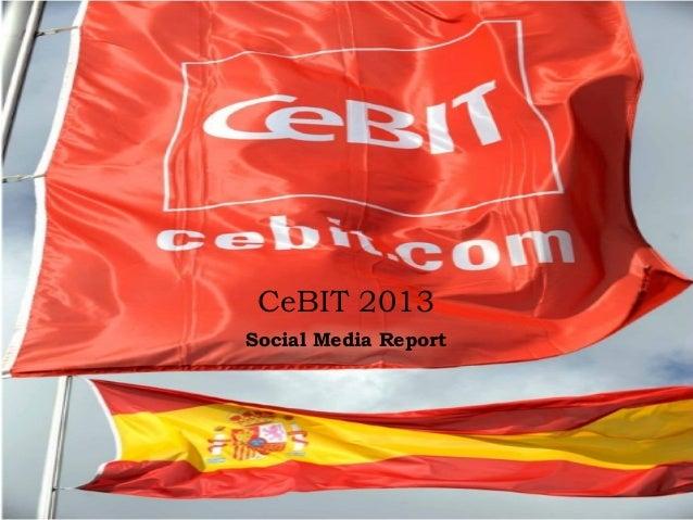 CeBIT 2013Social Media Report