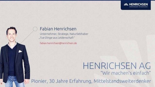 """CeBIT 2013 Folienpräsentation zum Vortrag """"Die Evolution der Arbeit"""" der HENRICHSEN AG Slide 2"""