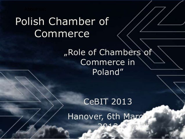 """About us:Polish Chamber of    Commerce             """"Role of Chambers of                 Commerce in                    Pol..."""
