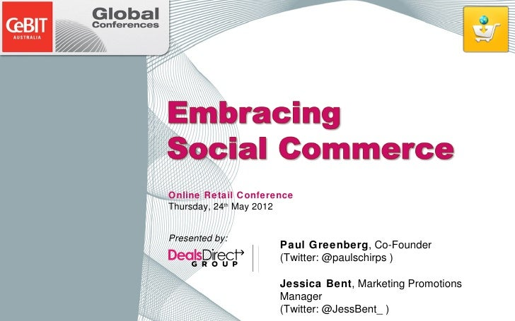 Online Retail Conference                                                  Thursday, 24th May 2012                         ...