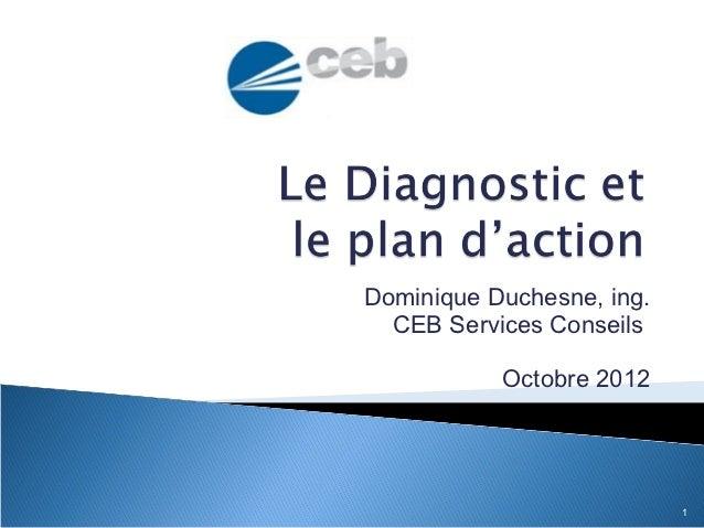 Dominique Duchesne, ing.  CEB Services Conseils           Octobre 2012                           1