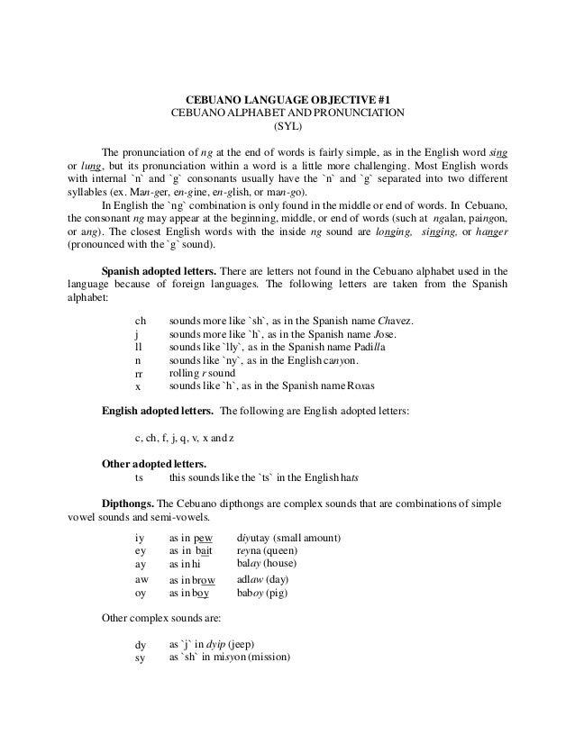 Cebuano language