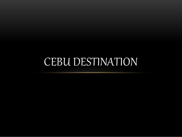 CEBU DESTINATION