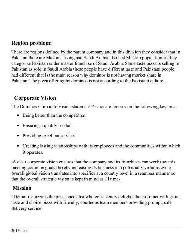 Dominos vision statement