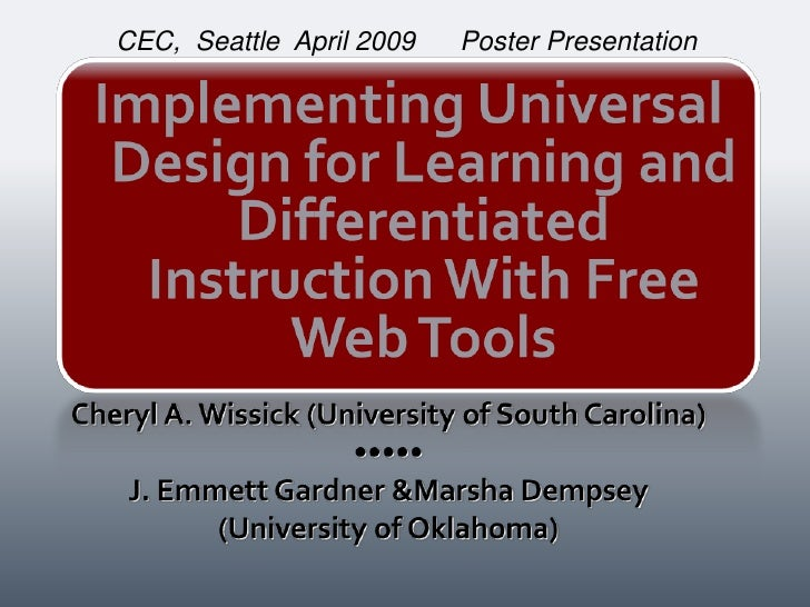 CEC, Seattle April 2009   Poster Presentation