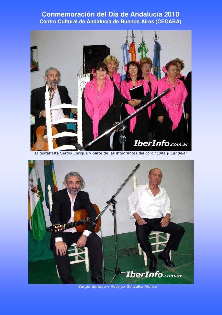 Conmemoración del Día de Andalucía 2010   Centro Cultural de Andalucía de Buenos Aires (CECABA)     El guitarrista Sergio ...