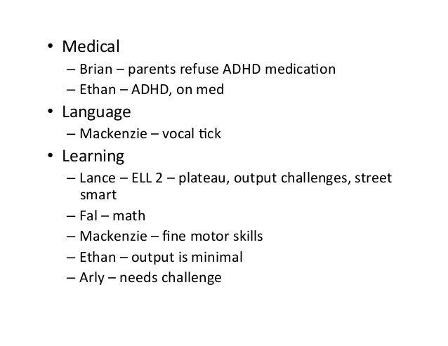 • Social-EmoLonal – Brian-counseling,selfreg,selftalk,anxious – Lance–selfreg – Fal–selfreg,posiLves...