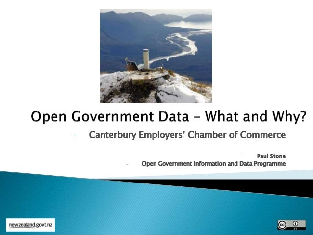- Canterbury Employers' Chamber of Commerce - Paul Stone - Open Government Information and Data Programme